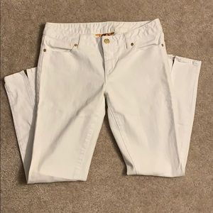 Tory Burch Super Skinny White Jeans